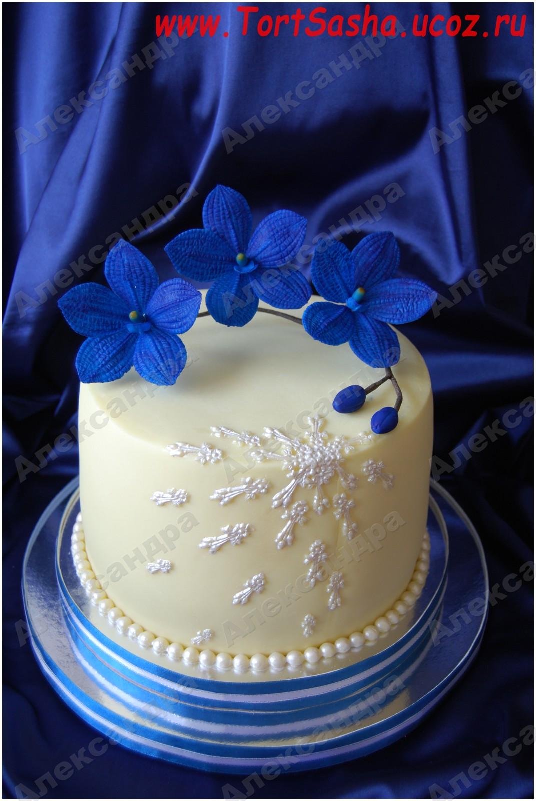 Торты мастичные торт орхидея ванд