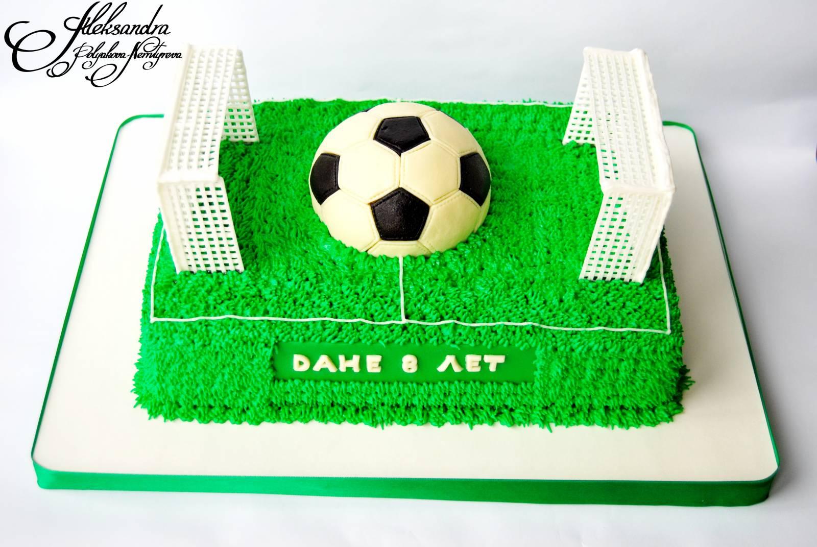 Как на торте сделать футбольное поле 925