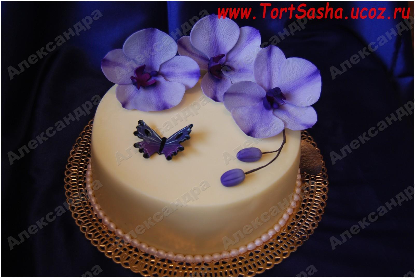 торт фото орхидеи
