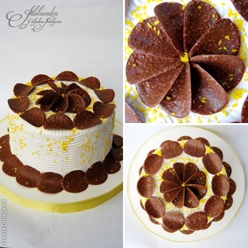 Как украсить в домашних условиях шоколадный торт